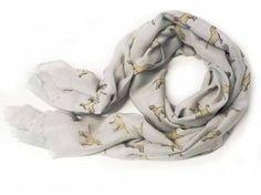 Schals für TierfreundeBaumwoll Fransen-Schal: Labrador -GRAU-