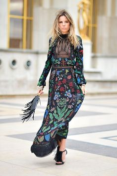 Bohemian maxi dress, boho style clothing, boho-chic clothes, gypsy summer long dress on boho boutique Fashion Mode, Look Fashion, Couture Fashion, Autumn Fashion, Paris Fashion, Street Fashion, Fashion Ideas, Womens Fashion, Elegant Dresses