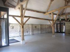Interieur gerestaureerde Vlaamse schuur aan de Heistraat 18 te Ulvenhout. Zie www.ulvenhart.nl