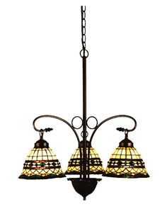 "24""""W Tiffany Roman 3 Lt Chandelier"