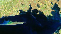 Vista aérea da costa da Ucrânia