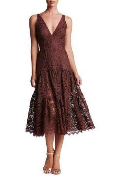 Dress the Population Madelyn Lace Midi Dress