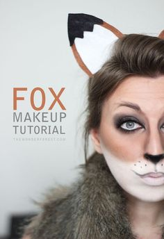 Fox Makeup Tutorial for Halloween @lindsaylooly these ears look easy enough