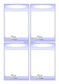 Minnow-themed editable communication slips (SB8915) - SparkleBox