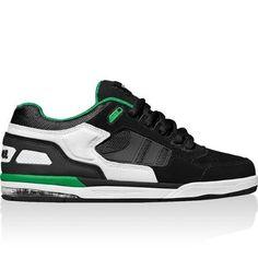 13d7b669978083 GLOBE Skateboard BMX Shoes VIPER Black White Green Size 8