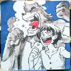 The Boy and the Beast #Kumatetsu #Kyuta (by Intence_Ice4444)