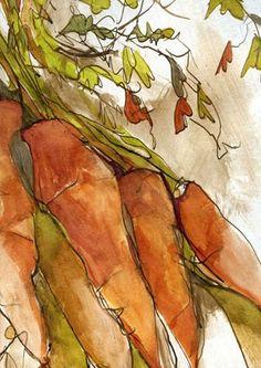 Images dessins de fruits, légumes et fleurs
