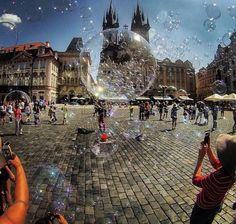 Bubbles in Prague :-)