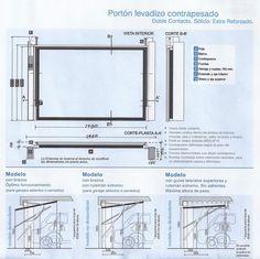 Fabricacion, venta e instalacion de portones levadizos