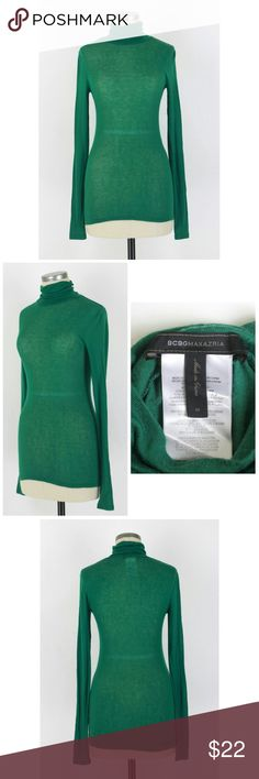 "Bcbg Max Azria turtleneck Sz M. BCBG Max Azria turtleneck. A timeless turtle for the season of layering. 86% lyocell 9% wool 5% spandex. Gently used with slight pilling. No fading,  snags, holes or stains. Approx measurements Bust 30"" Length 26.75"". BCBGMaxAzria Sweaters Cowl & Turtlenecks"