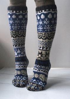 Joulukalenterisukka 2016 Novita Nalle   Novita knits naisen neulotut villasukat