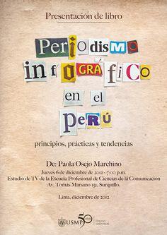Presentarán libro sobre periodismo infográfico en el Perú