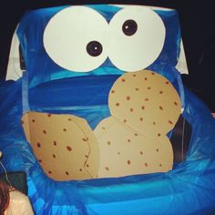 Cookie Monster Trunk or Treat Idea Holidays Halloween, Halloween Treats, Halloween Decorations, Halloween Party, Halloween Costumes, Halloween 2015, Halloween Stuff, Trunk Or Treat, Holiday Crafts