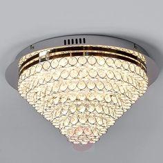 Funklende LED-taklampe Calvin med glasskrystaller-9974004-30 Kr 1777,90