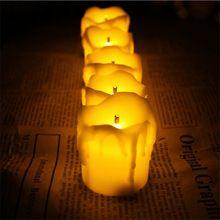 2016 conjunto de 12 sans flamme LED bougies pour la saint valentin bougie anniversaire et décoration de mariage(China (Mainland))