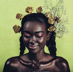 Find images and videos about beauty and dark skin on We Heart It - the app to get lost in what you love. Brown Skin, Dark Skin, Hair Afro, Natural Hair Styles, Short Hair Styles, My Black Is Beautiful, Black Girls Rock, Black Girl Magic, Nailart