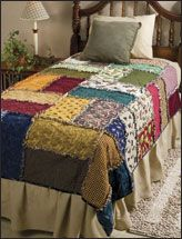 Scrappy Rag Quilt--thinking of making this for the grandkid's room.  Really cute.