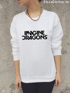 Imagine Dragons Band Womens And Girls high Quality Jumper Top T Shirt Sweater Music Rock Tour Tumblr Demons Radioactive night visions on Etsy, $40.00