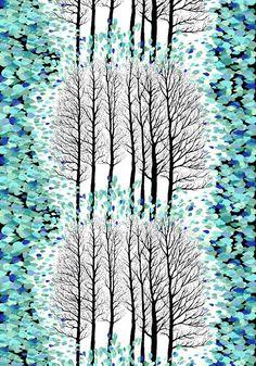 Lehtisade, turquoise by Riina Kuikka