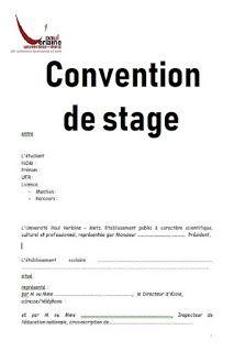 Exemple De Convention De Stage Stage Lettre De Motivation Stage Etablissement Scolaire
