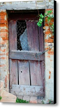 Barely There Door Canvas Print / Canvas Art By Dorothy Berry-lound