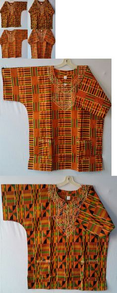 1fae8aa88c2 Africa 155241  Dashiki Kente African Mens Womens Blouse Hippie Ethnic Shirt  10 Pieces Wholesale -  BUY IT NOW ONLY   115 on eBay!
