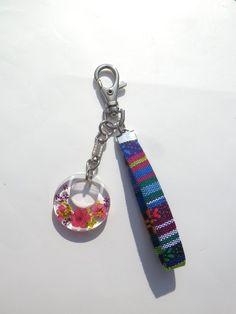 Annys workshop, Handmade keychain, hard plastic keychain, Pressed flowers keychain (2)