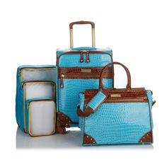 You'll always be traveling in style with the help of Samantha Brown's 5-Piece luggage set! It's available in many different colors options! Which color is your favorite?