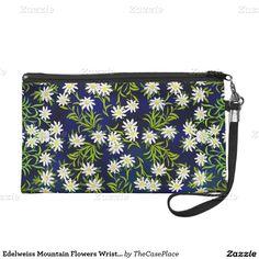 Edelweiss Mountain Flowers Wristlet