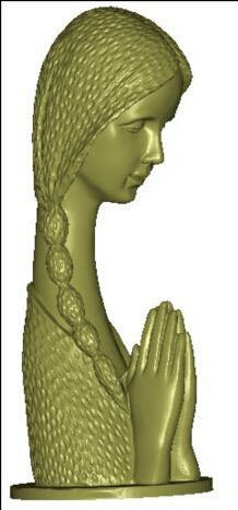 3d model relief for cnc in STL file format Beautiful girl