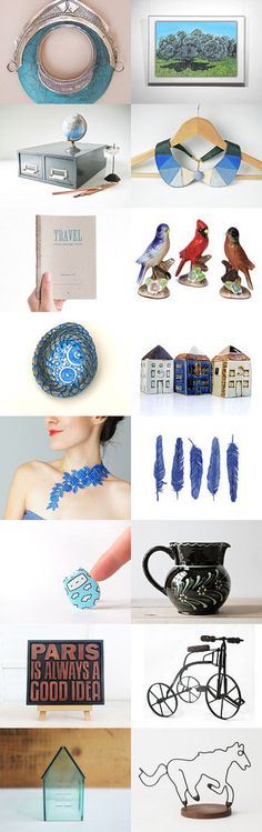Blue Heart Attack by Elinor Levin on Etsy--Pinned with TreasuryPin.com