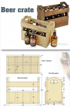 Beer Crate Plans - Woodworking Plans and Projects | WoodArchivist.com
