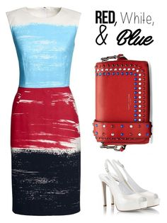 """red, white and blue"" by chintyar ❤ liked on Polyvore featuring Canvas by Lands' End, Fratelli Karida, Marc Jacobs, redwhiteandblue and july4th"