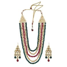 Jewelry & Watches Bridal & Wedding Party Jewelry Red Bollywood Wood Actress Pearl Kundan Earring Set For Wedding Party Convenient To Cook