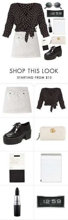 """""""12:59"""" by mode-222 ❤ liked on Polyvore featuring Mountain Khakis, Alice + Olivia, Gucci, John Lewis, Mead, MAC Cosmetics and LEFF Amsterdam"""