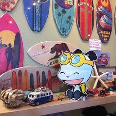 PandaOki at Beach Trends!! @beachtrends @Lagunabeach #adventures #ComicGate #kids #family #childrensbooks #art #books #anime #fun #exercise #read #bookclub #MustRead #reading #authors #pandas #pandaoki #kids #family #comics #beach #California #surfboard #outside #unplug #beachtrends #lagunabeach