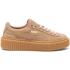Fenty by Puma Suede Creepers ($140) ❤ liked on Polyvore featuring shoes, sneakers, puma creeper, creeper shoes, puma shoes, suede leather shoes and puma footwear