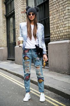 The Best Denim Street Style Outfits | StyleCaster