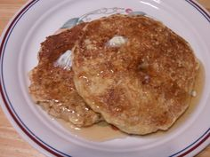 """Favorite Oatmeal pancakes! I also added 1/2 teaspoon of cinnamon. I added the 1/2 cup walnuts into magic bullet to finely chop. I added all the ingredients to Blendtec and blended under """"batter"""" setting for about 10 seconds. Dylan loved these!"""