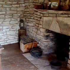 95 best walk in fireplaces images fire places primitive - Early american cuisine ...