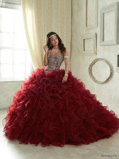 Vestidos de XV Color Vino 15 Dresses, Formal Dresses, Quinceanera Dresses, Ball Gowns, Planes, Fashion, Long Party Dresses, Cute Dresses, Vinyl Dress