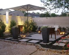 Cheap patio ideas for backyard - large and beautiful photos. Photo to select Cheap patio ideas for backyard Budget Patio, Concrete Patios, Backyard Patio Designs, Small Backyard Landscaping, Landscaping Ideas, Sloped Backyard, Inexpensive Backyard Ideas, Cheap Patio Ideas, Small Outdoor Patios