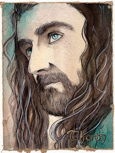 Thorin by KinkoWhiteArt on Etsy #thorin #hobbit #watercolors #traditionalart…