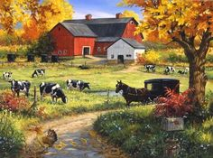 Linda Picken Art Studio / Amish Red Barn