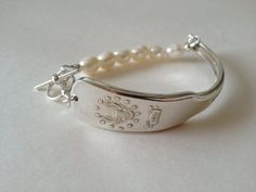 Maryland Spoon Bracelet with Cream Pearls