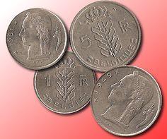 Pièces de 1 et de 5 francs belges