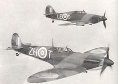 Supermarine Spitfire and Hawker Hurricane, 1940: the iconic Battle of Britain partnership.