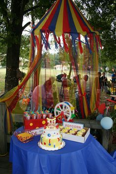 My circus party that we had for my daughter's 4th & son's 2nd birthdays! My sister in law and I worked our butt's off! @Bree Reid