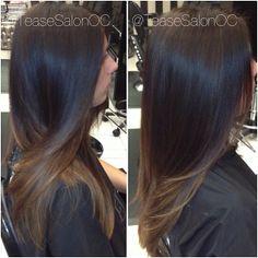 #ombre hair color, cheveux d'été :)