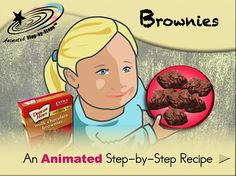 Brownies - Animated Step-by-Step Recipe  Available in 3 formats: Regular, SymbolStix, PCS